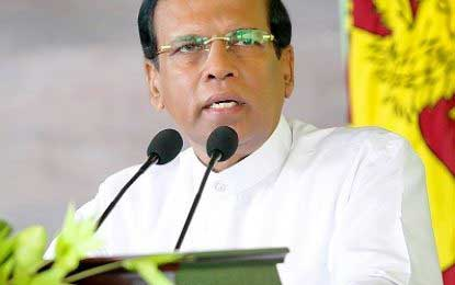 President Sirisena holds discussion with Customs Officers Ascn. over new Act