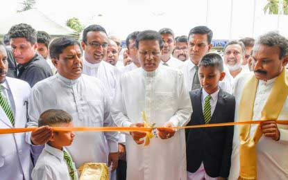 President declares open newly-constructed technology laboratory in Galle