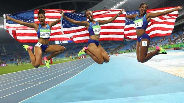 American Women Sweep 100 Metre Hurdles