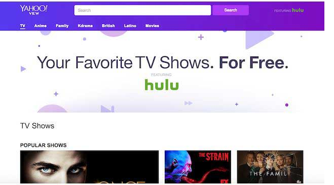 "New TV site launched named ""Yahoo View"" with Hulu"