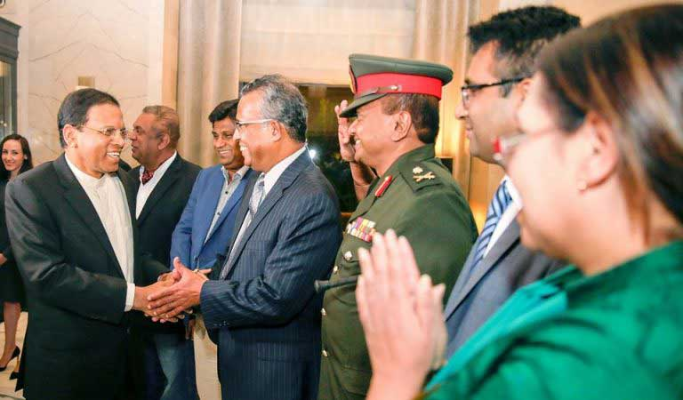 President Maithripala Sirisena arrives in New York to attend the 71st UNGA