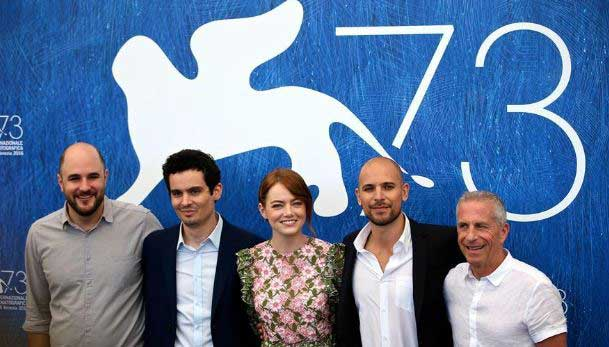 Venice winners celebrate after awards ceremony