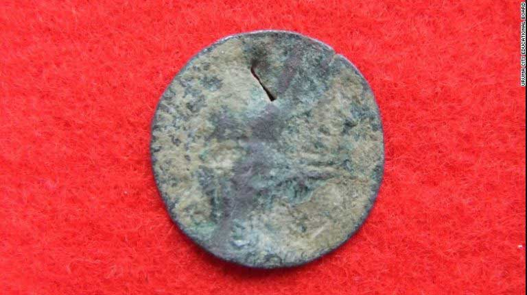 Ancient Roman coins found in ruined Japanese castle