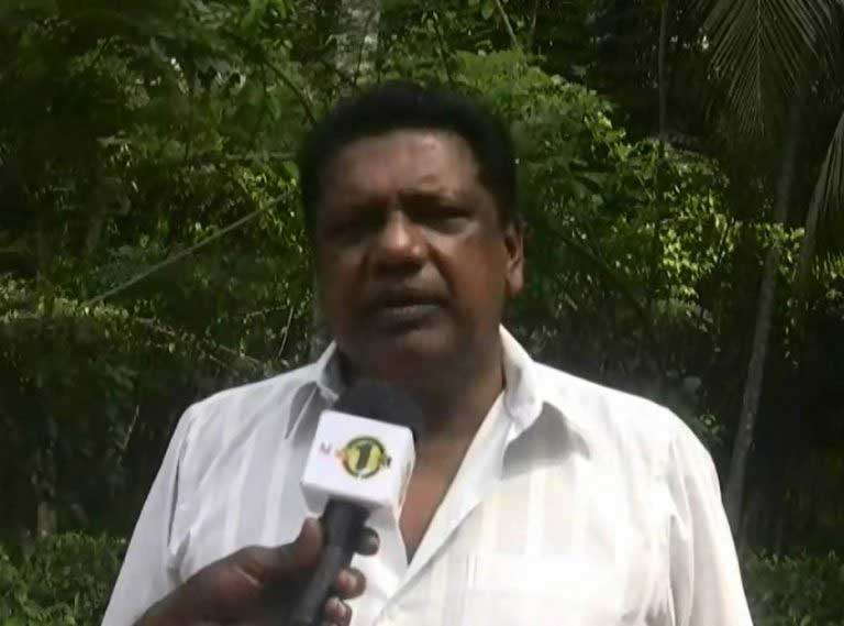 Investigations unit police officers search premises, land owned by Kumara Welgama