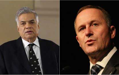 PM Wickremesinghe and NZ counterpart John Key hold bilateral discussions