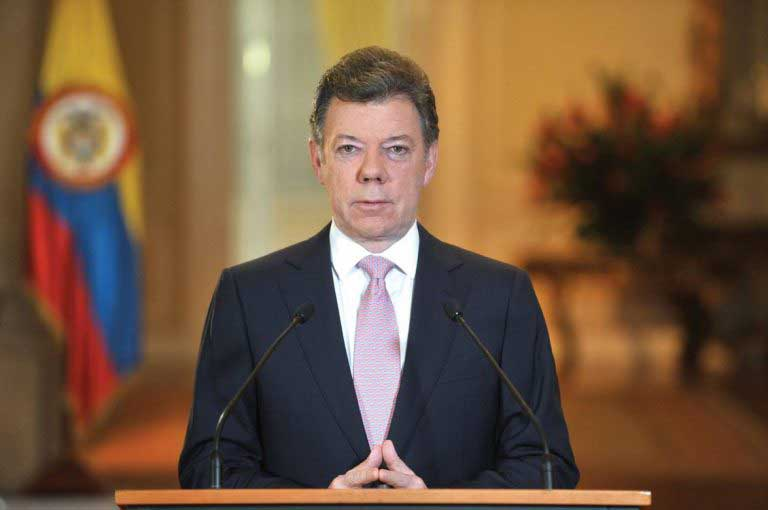 Colombian president vows to continue working for peace