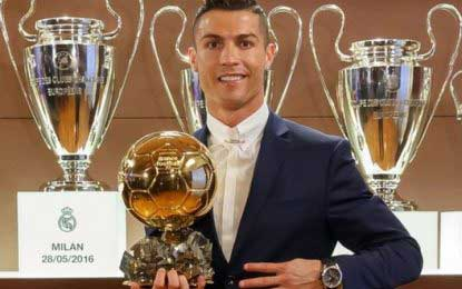Cristiano Ronaldo wins Ballon d'Or for the fourth time