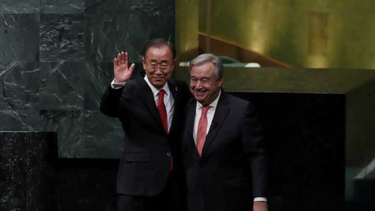 Portugal's Guterres sworn in as next U.N. secretary-general