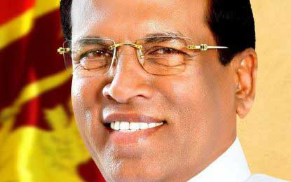 I am the only President to declare assets – President Sirisena