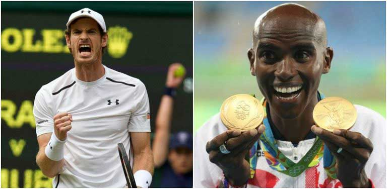 Andy Murray,  Mo Farah knighted in New Year honours list