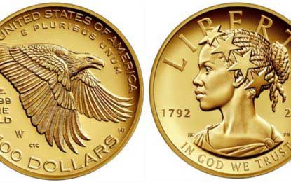 Lady Liberty depicted as a woman of color on U.S. currency