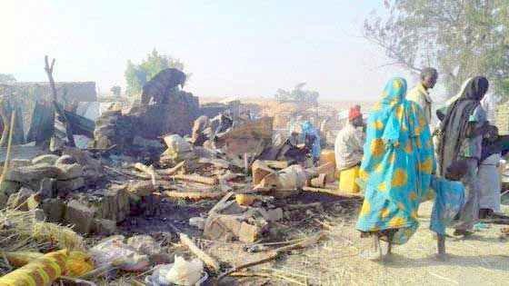 Image result for Nigeria Airforce Bombs Refugee Camp, Kills At Least 200