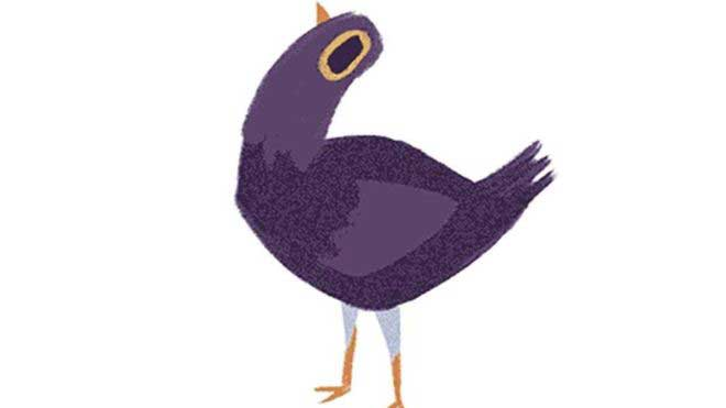 What does the purple bird on Facebook mean?