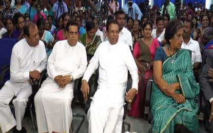 SLFP Women's Front ceremony held under auspices of President Sirisena