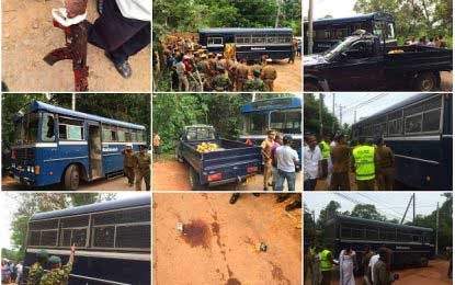 Manhunt launched for Kalutara Prison bus attack suspects