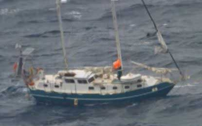 Sailors rescued from 'enormous seas' off Australia