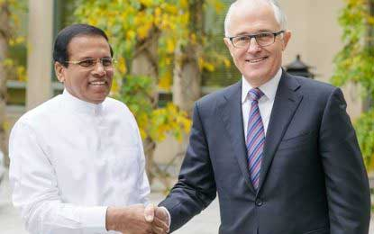 President Sirisena meets with Australian Premier – Three bilateral agreements signed (Video)