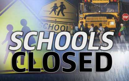 Inclement weather forces closure of several schools
