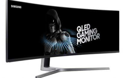 "Samsung unveils ""super ultrawide"" computer monitor"