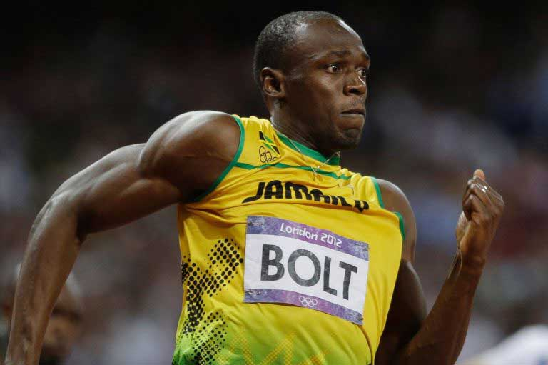Usain Bolt narrowly wins 100 metres