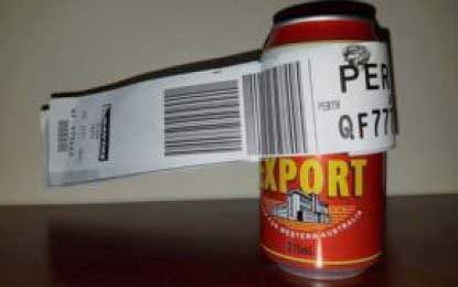 Passenger checks in can of beer as only luggage