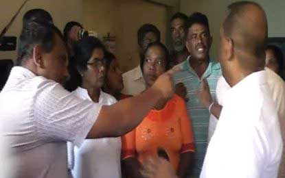 Min. Amaraweera receives hostile reception from locals distressed over Uma Oya project