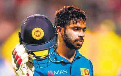 Niroshan Dickwella fined for allegedly violating ICC code