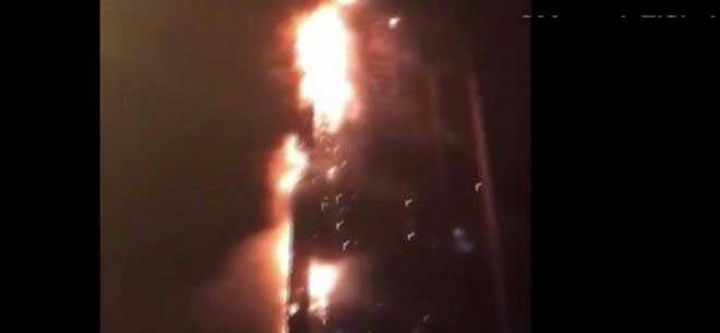 Large fire rips through Dubai's Torch Tower