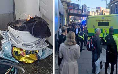 Several injured in London Tube train explosion