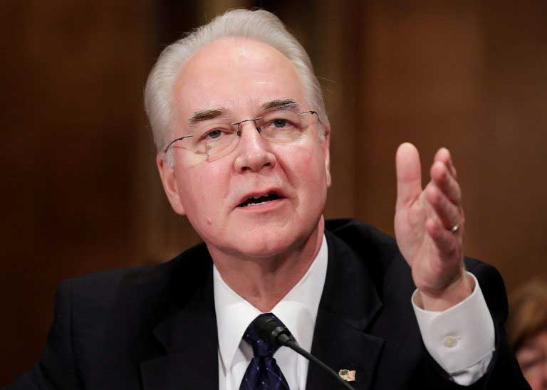 US health secretary Tom Price quits after private plane controversy