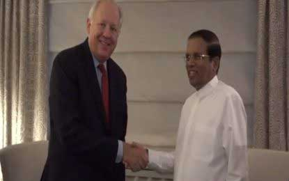 President Sirisena holds discussions with UN diplomats in New York