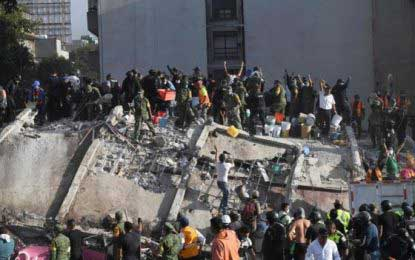 Mexico: Strong earthquake topples buildings, killing scores