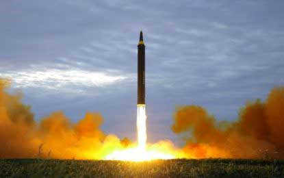 North Korea 'fires missile from Pyongyang'
