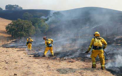 Firefighters struggle for fourth day to contain Northern California wild fires
