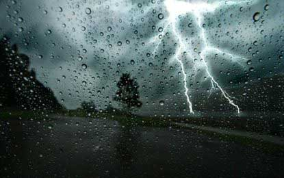 Showers in the morning – thundershowers at noon