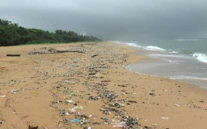 The famous golden coasts of SL, now covered with garbage and… washing machines?