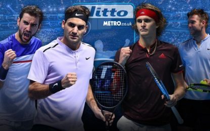 ATP World Tour Finals Men's Singles Round Robin Group scheduled for today
