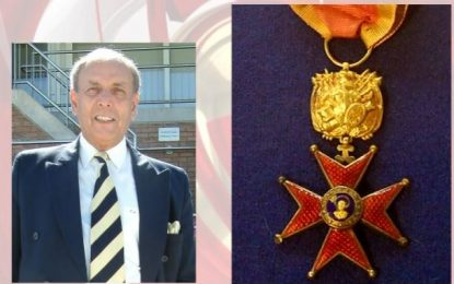 Former dep. chairman of TCMOL Clive Leach receives Papal Knighthood