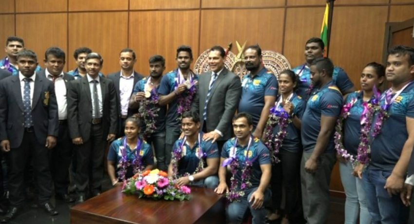 2018 Commonwealth Games medalists arrive in Sri Lanka