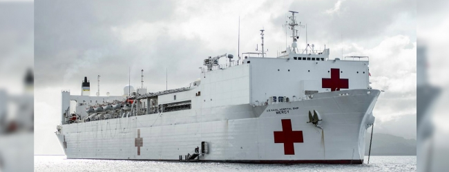 USNS Mercy arrives in Trincomalee