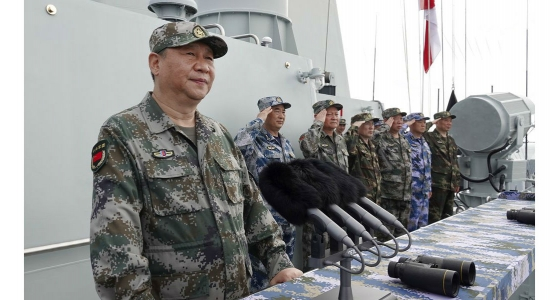 China Conducts Naval Exercises with Real Fire in the Taiwan Strait