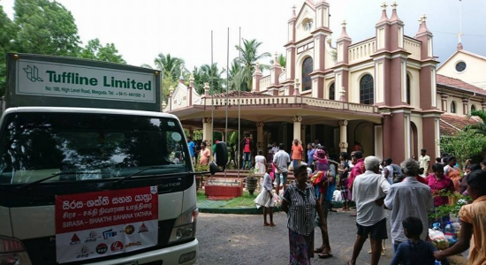 Sirasa Shakthi Sahana Yathra continues mission to provide aid to those affected