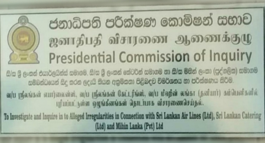 Presidential Commission reveals more shady deals of SriLankan airlines