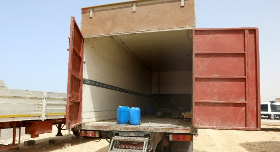 Eight migrants found dead in a lorry in western Libya