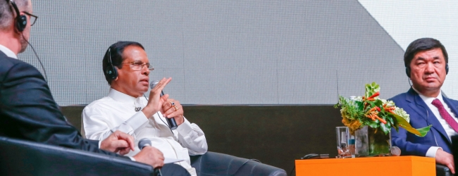 President Sirisena addresses OGP summit