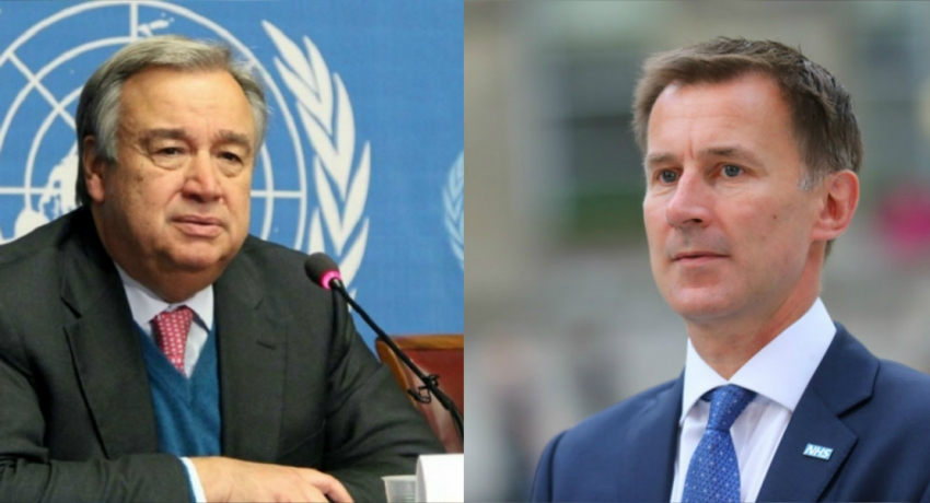 Guterres meets with UK Foreign Secretary Hunt at UN