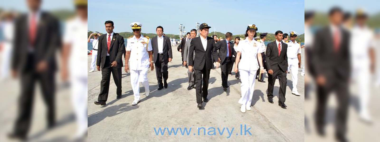 Japanese Defence Minister inspects Hambantota and Trinco harbours