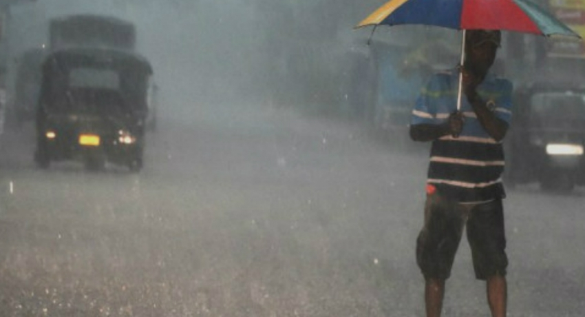 Heavy rainfall of 100 mm to be expected islandwide today