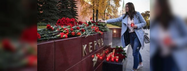 Flowers, candles in Moscow for victims of Crimea attack