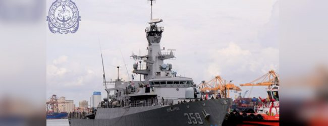Indonesian Naval ship 'Kri Usman Harun' arrives in Colombo